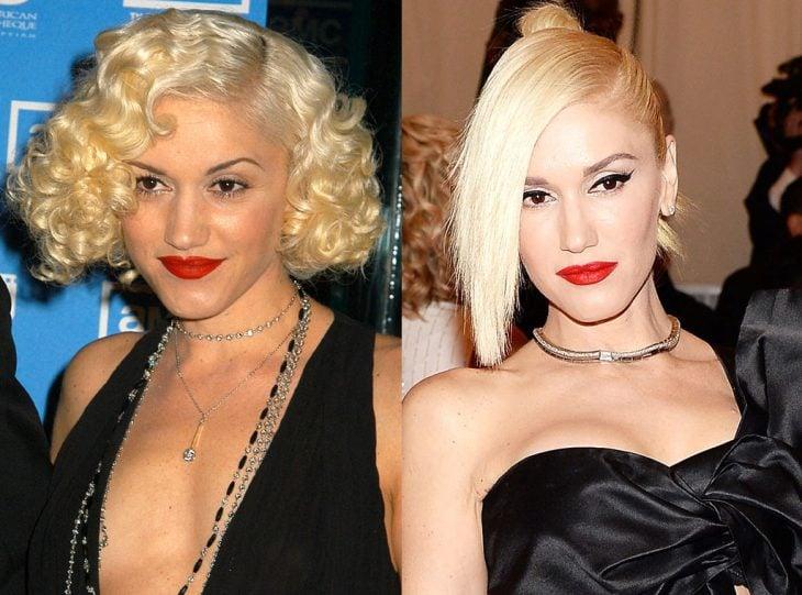 Gwen stefani joven y actualmente