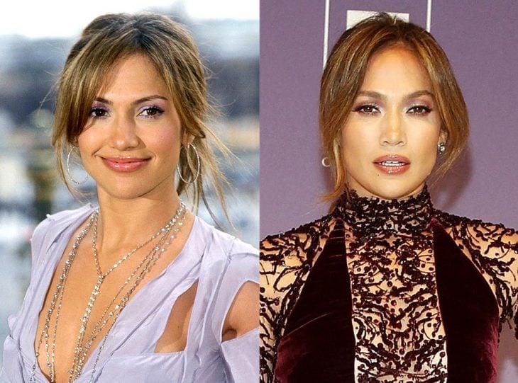 Jennifer Lopez joven y actualmente