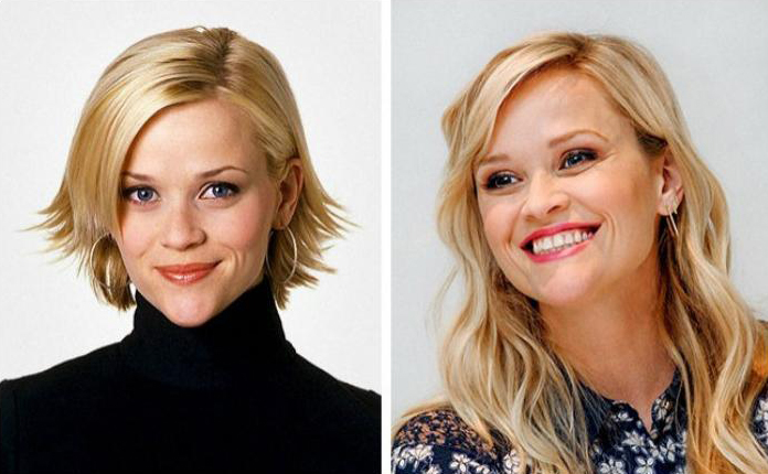 Reese whiterspoon joven y actualmente