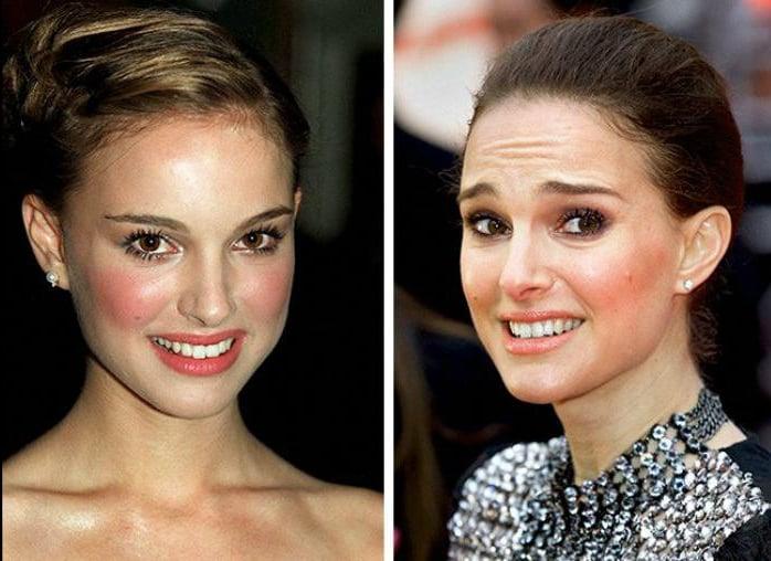 Natalie Portman joven y actualmente