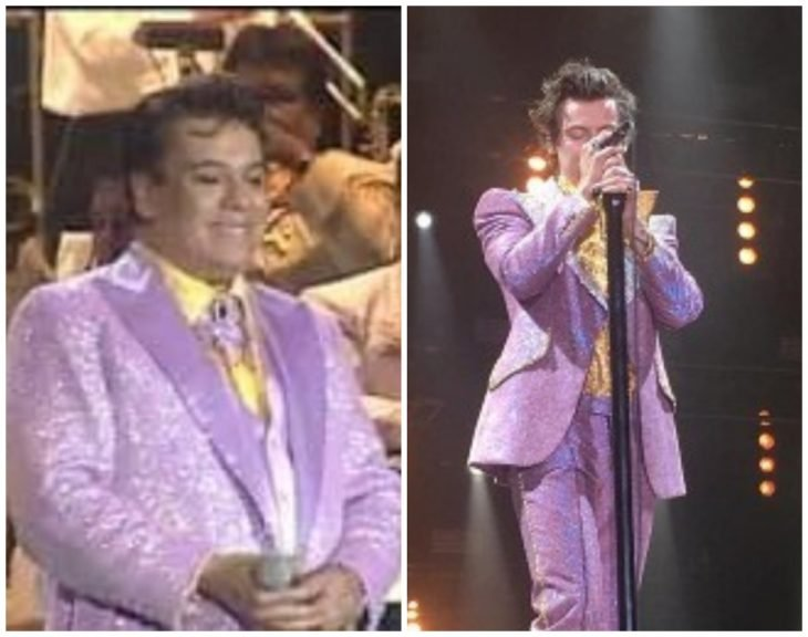 hombres usando trajes en lila
