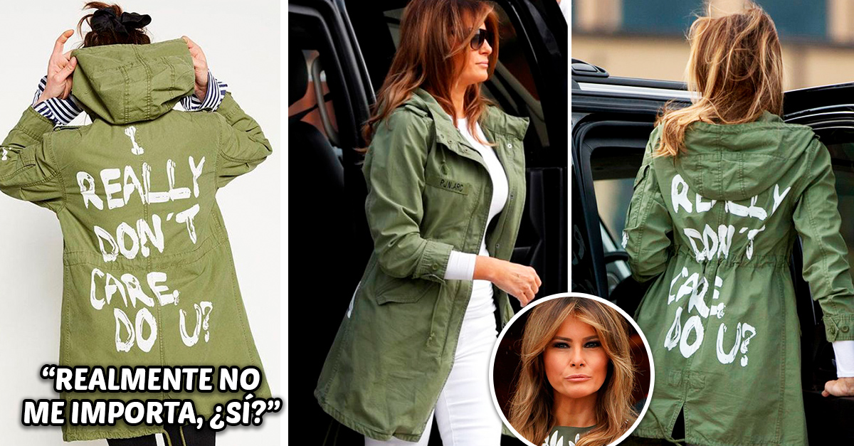 La vestimenta de Melania Trump está gritando que no le importa la situación de los migrantes