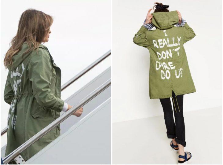 Chaqueta que Melania Trump usó en su visita a los niños de Texas