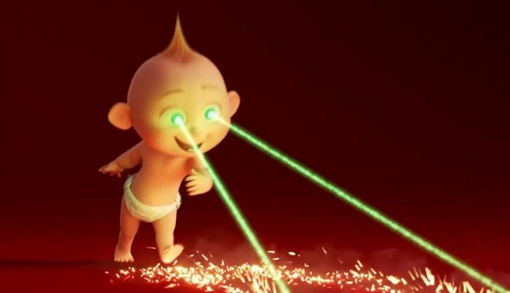 Jack Jack con su visión de rayo láser