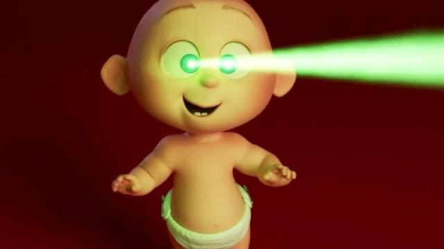 Jack Jack con su visión de rayos láser