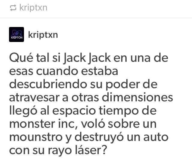 Teoría de usuario de twitter sobe jack jack