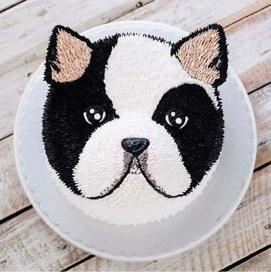 Pastel de perrito pug