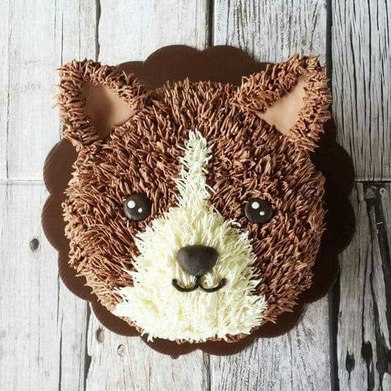 pastel de perrito color café