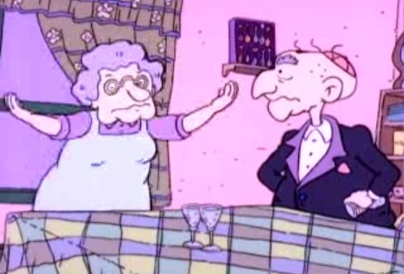 Los abuelos maternos de Tommy Pickles de Rugrats