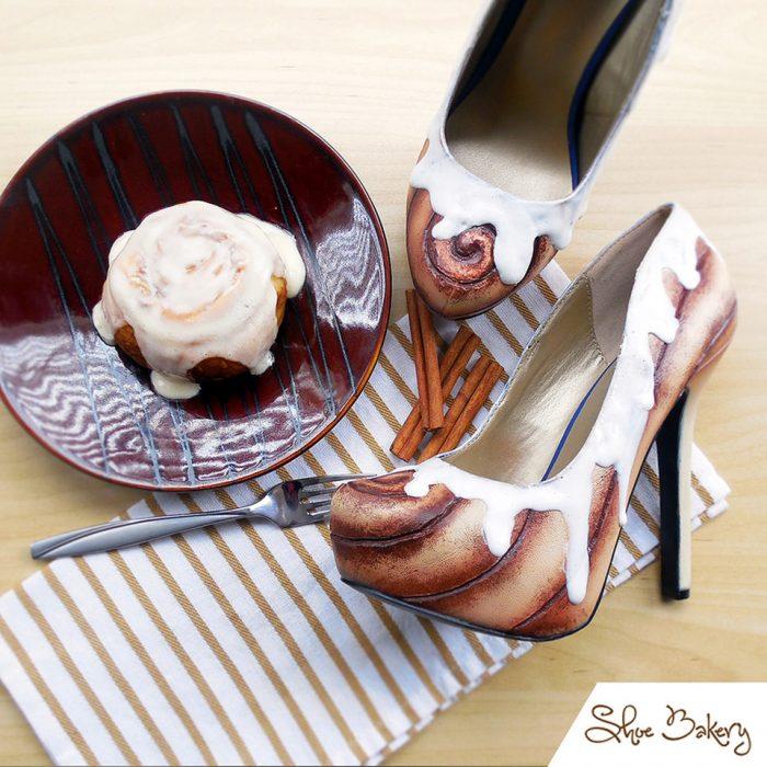 zapatos con roles de canela