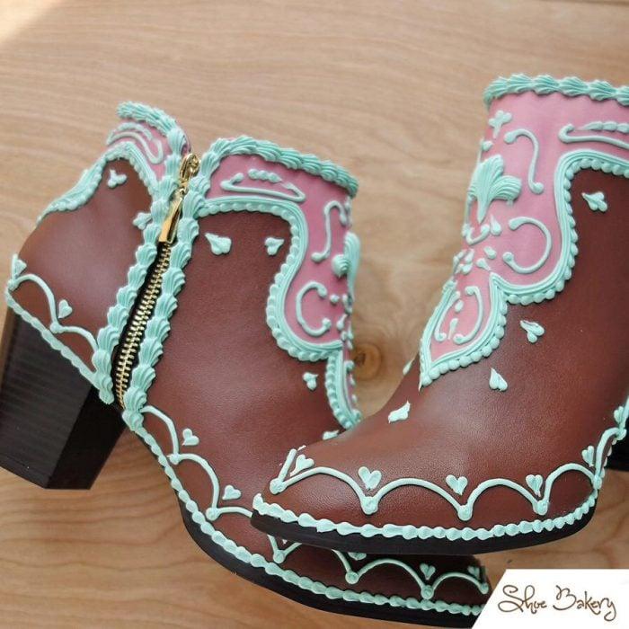botas con chocolate