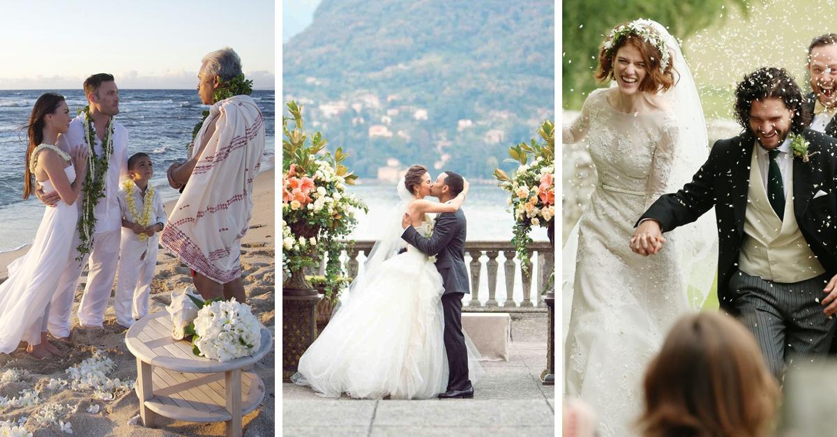 lugares paradisíacos en donde se han casado los famosos