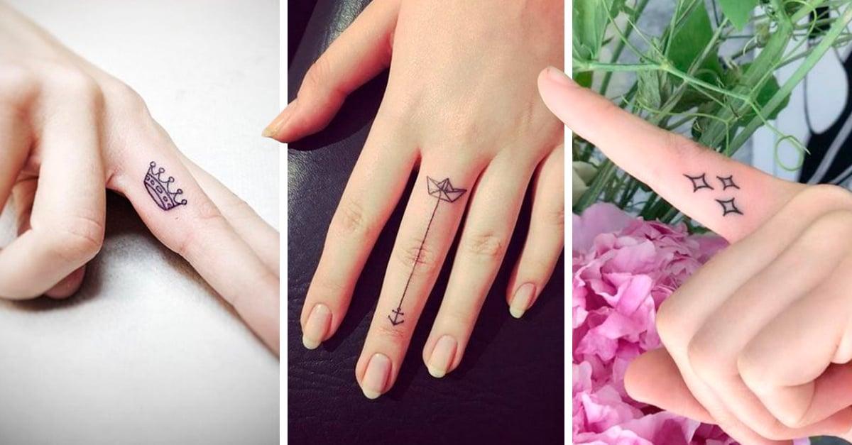 15 Tatuajes para hacerte un tatuaje en los dedos