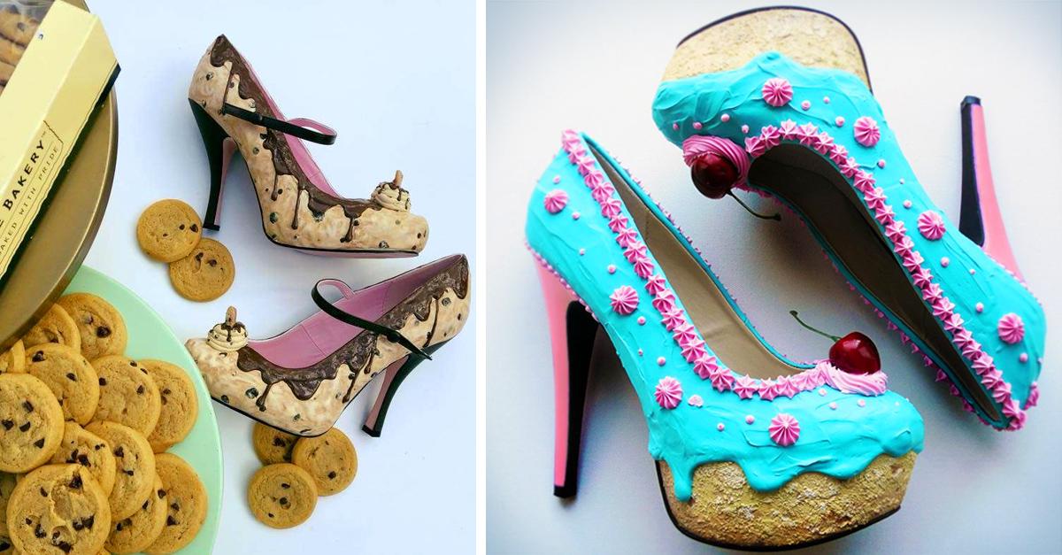 Estos zapatos en forma de helado son perfectos para una tarde de postres