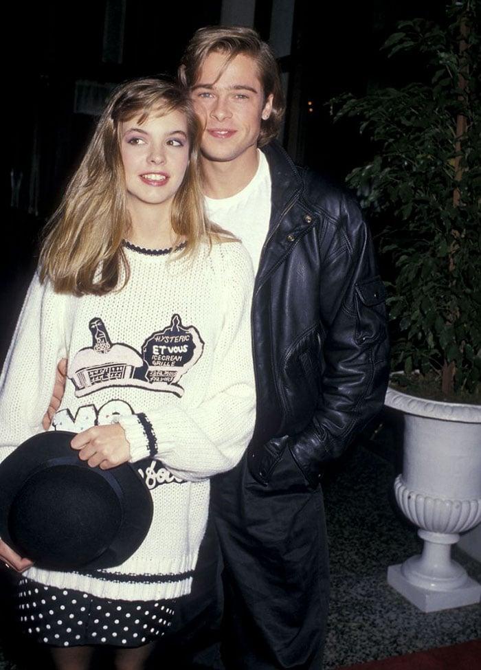 Shalene McCall y Brad Pitt