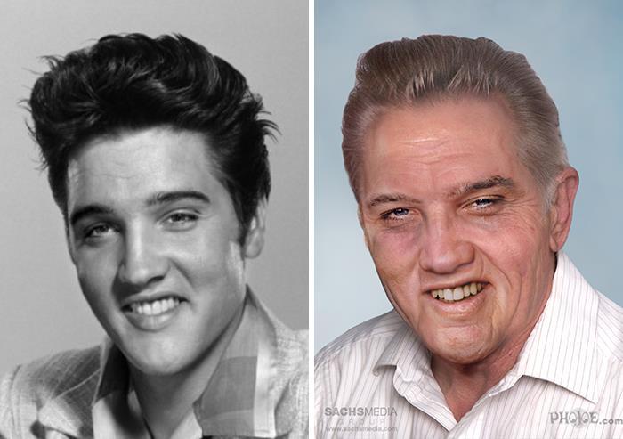Elvis Presley y cómo se vería si estuviera vivo