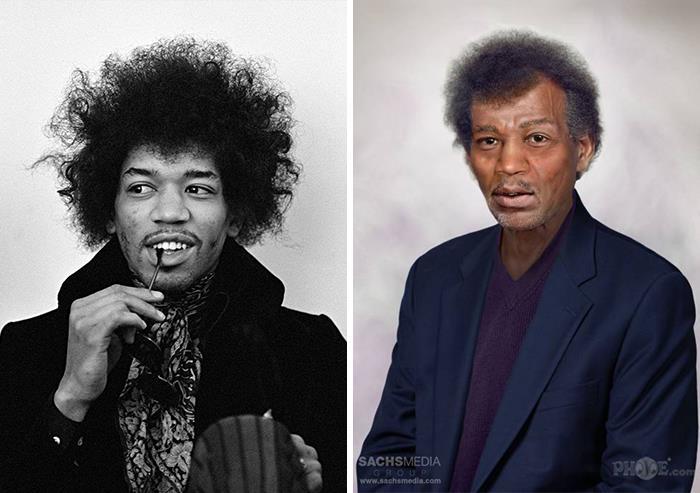 Jimi Hendrix y cómo se vería si estuviera vivo