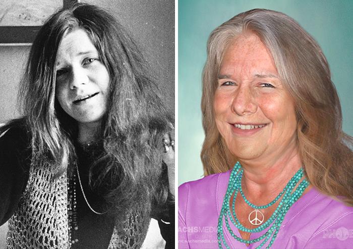 Janis Joplin los 27 y cómo se vería si estuviera viva