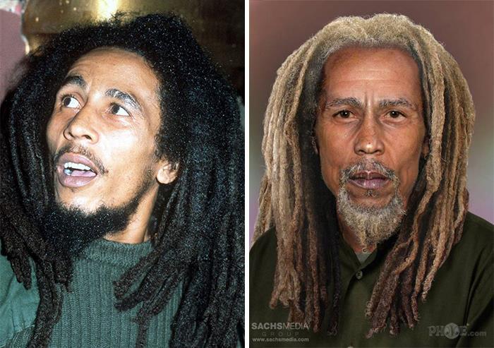 Bob Marley y cómo se vería si estuviera vivo