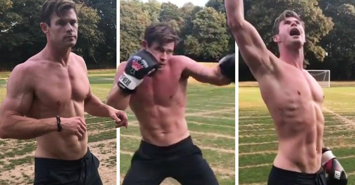 Chris Hemsworth haciendo ejercicio es todo lo que necesitas ver para empezar la semana con el pie derecho