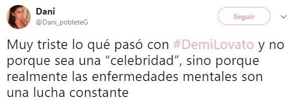 tuit sobre Demi Lovato