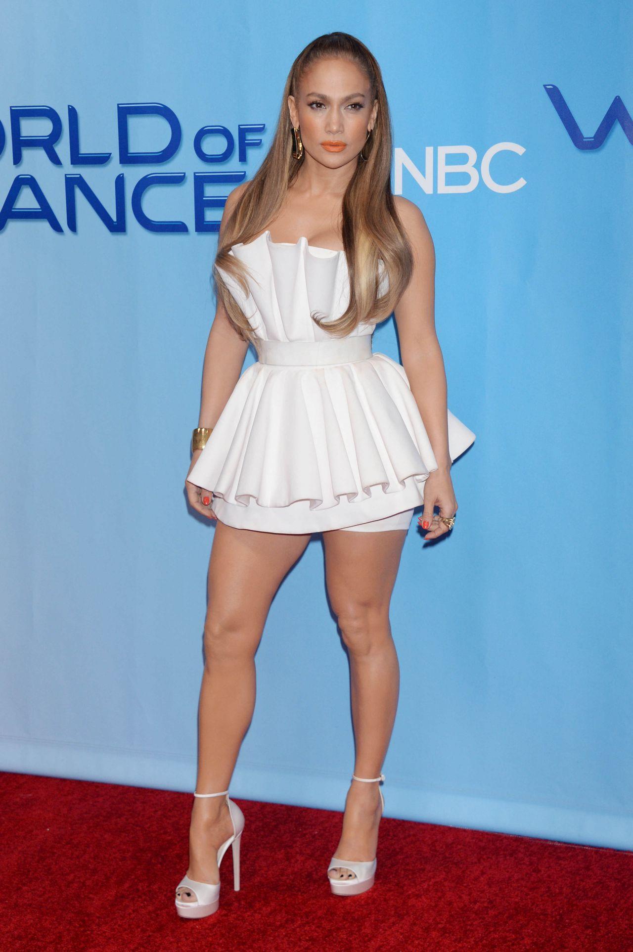 Jennifer Lopez durante una alfombra roja