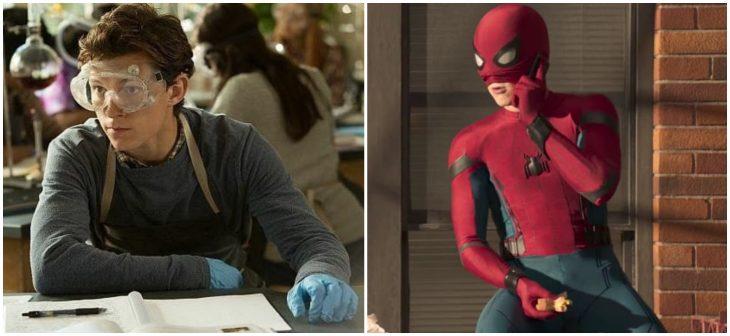 chico con traje de Spider-Man