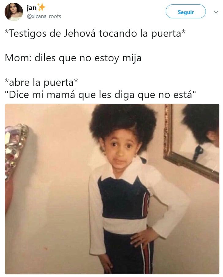 Memes cardi B de niña diciendo dice mi mamá que