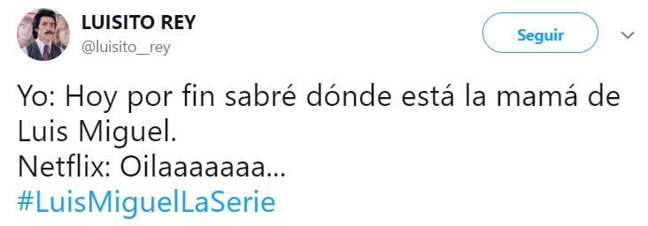 Comentarios en Twitter sobre el final de temporada de Luis Miguel: la serie