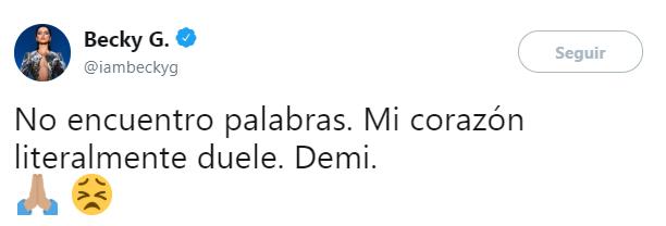 Comentarios en Twitter de famosos hacia Demi Lovato