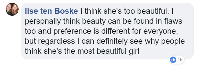 Comentarios en facebook acerca de la niña más hermosa del mundo