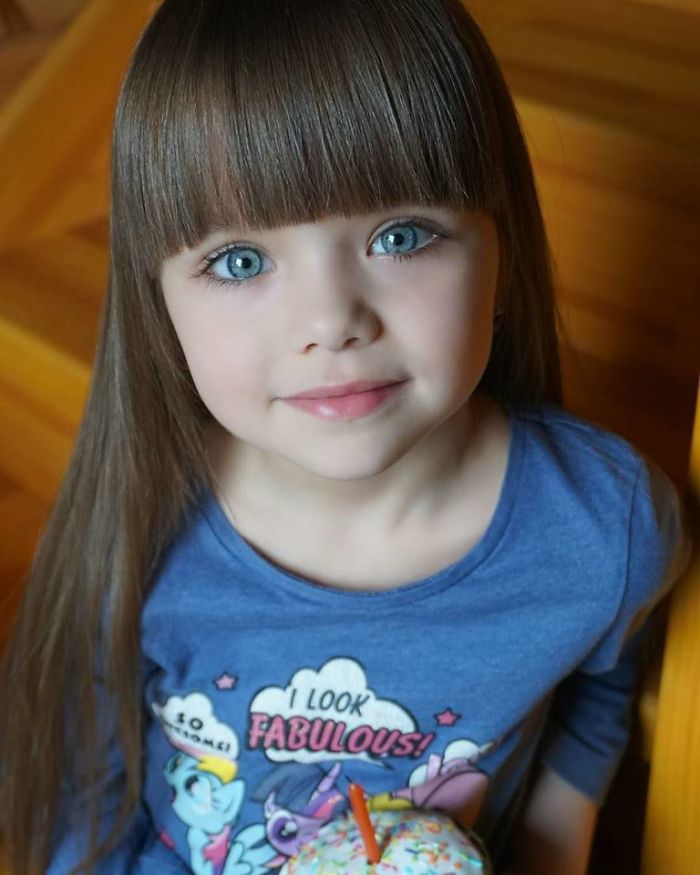 Niña de nigeria considerada como la más hermosa de todo el mundo