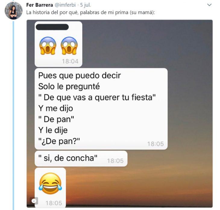 Historia en Twitter de un niño que tuvo una fiesta temática de concha