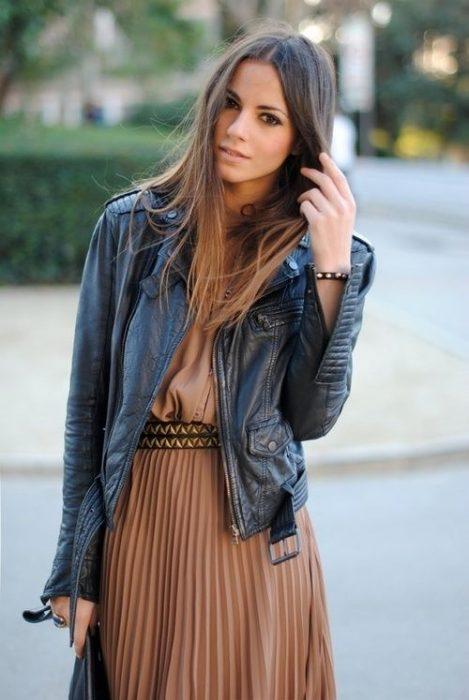 chica con vestido