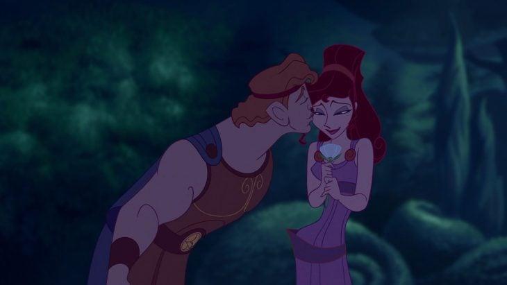 Hércules besando a megara