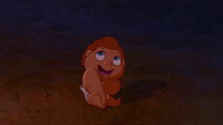 Hércules cuando era un bebé