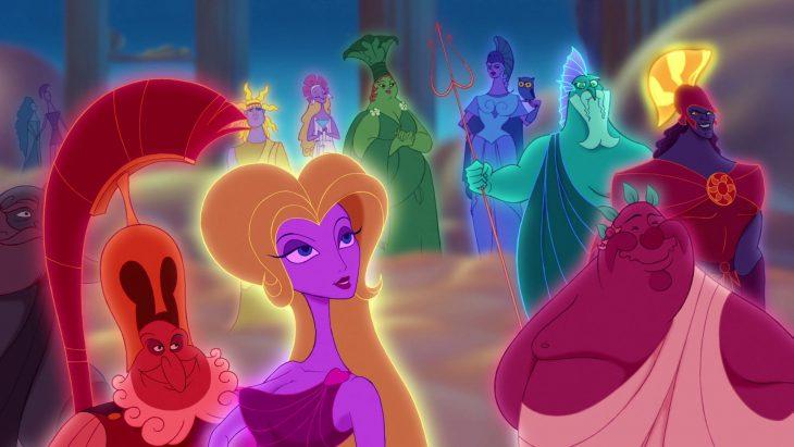 Escena de la película de Hércules fiesta en el olimpo
