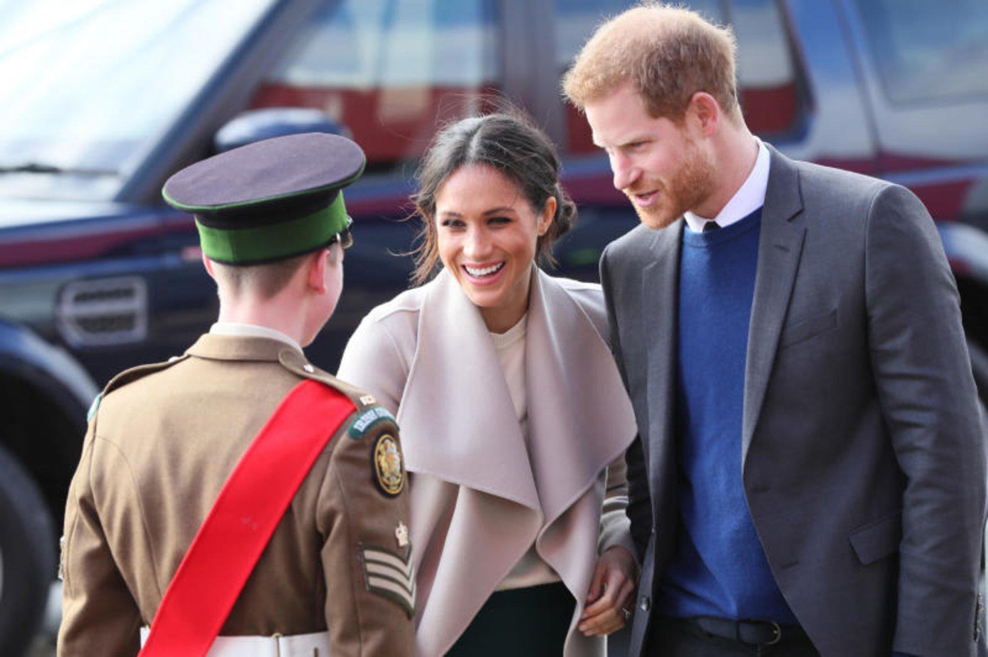 Meghan y Harry en su visita a Dublin