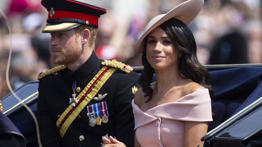 Meghan Markle durante el desfile de la fiesta de la reina