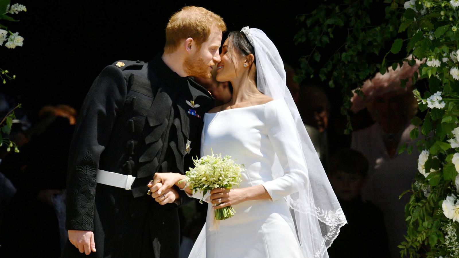 Meghan Markle y Harry el día de su boda