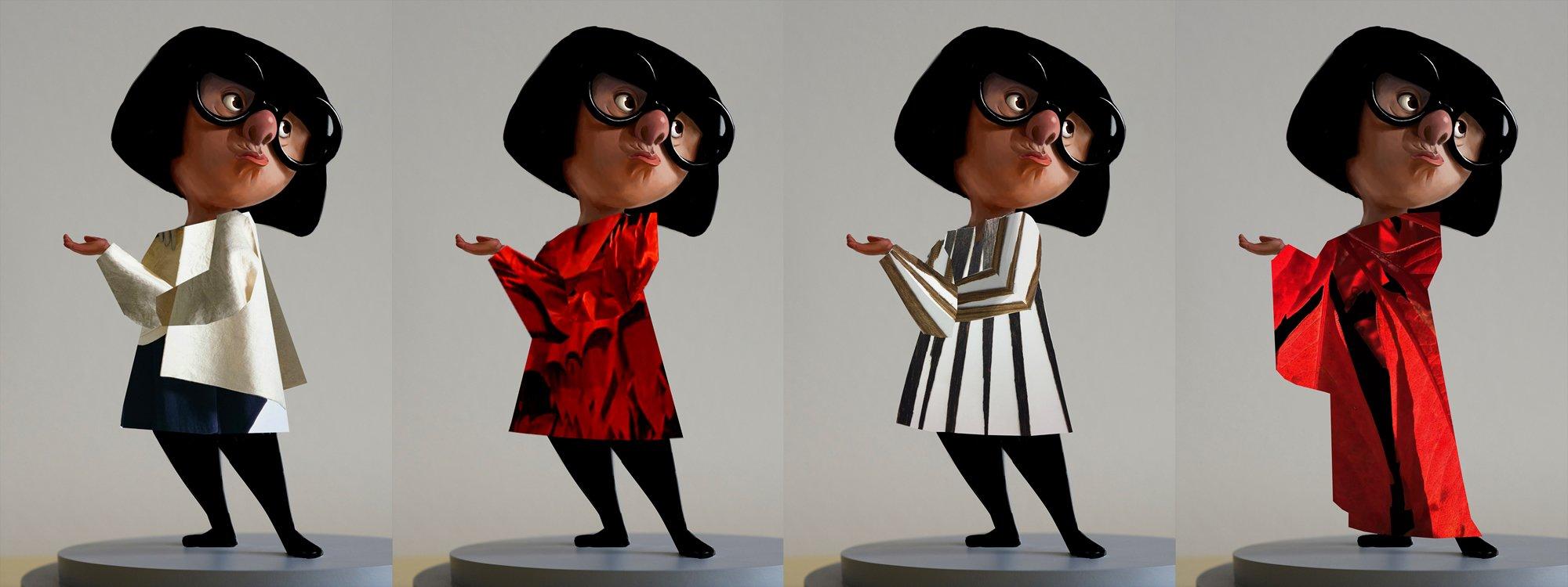Edna modas vestida con diferentes prendas