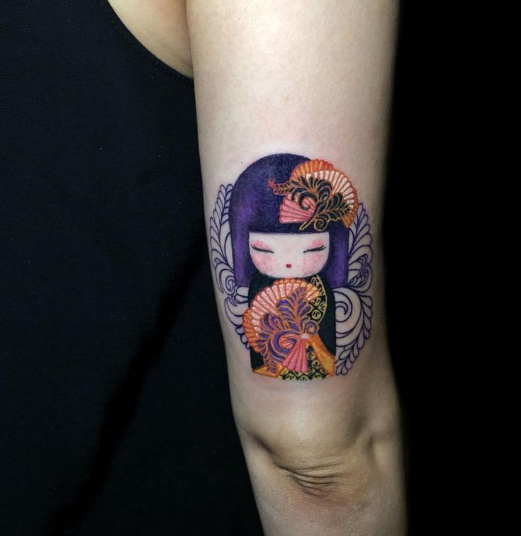 Tattoos with designs of Japanese culture