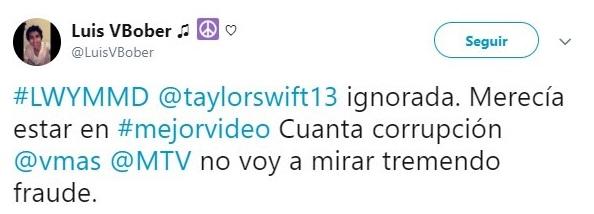 comentario en twitter sobre taylor swift