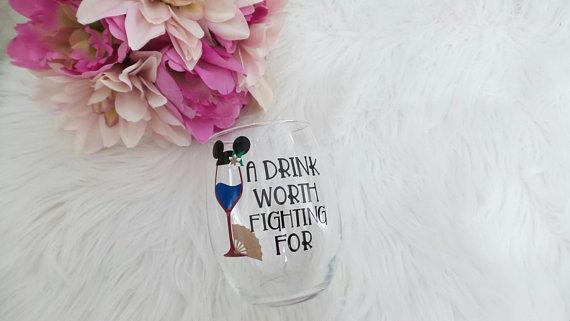 Vasos de las princesas de disney para beber vino