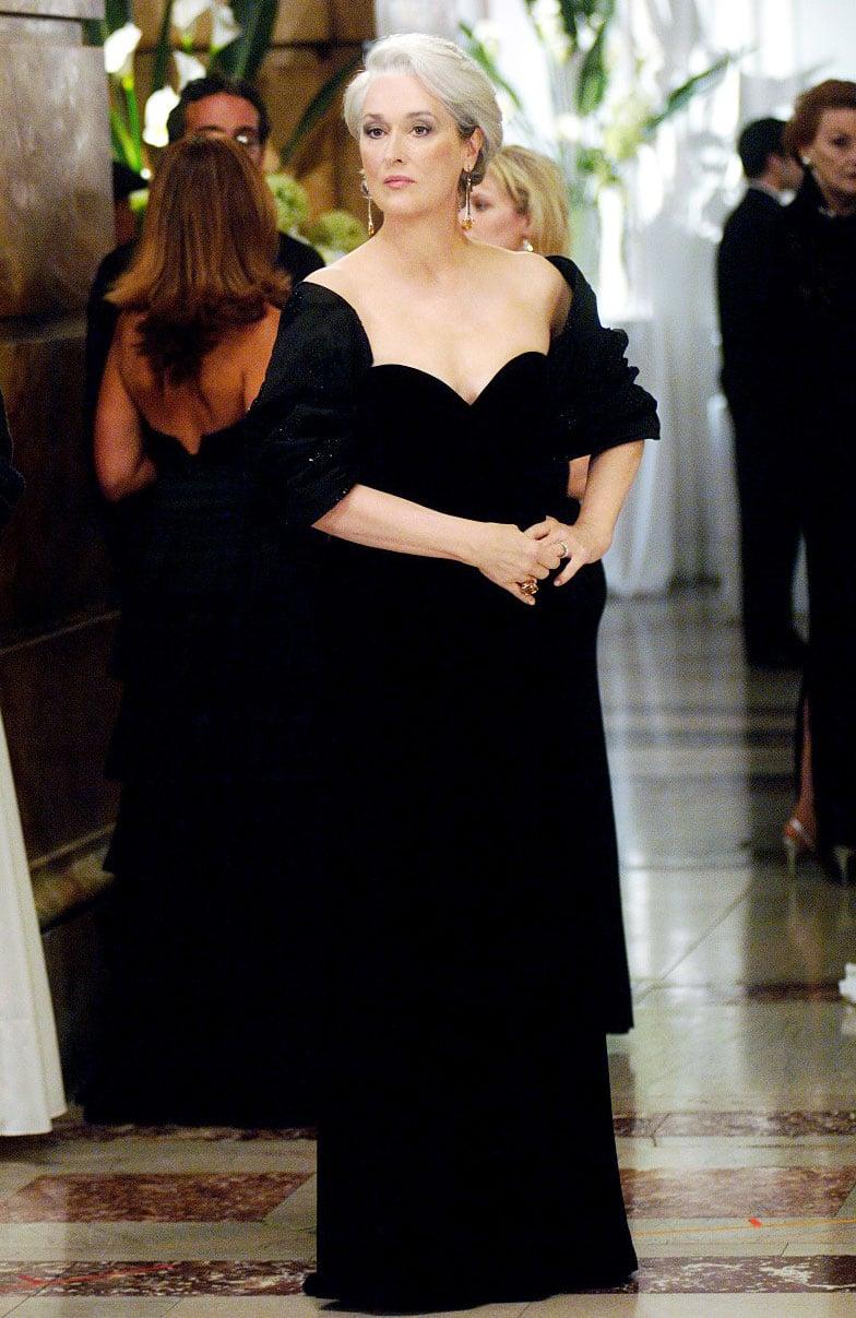 Vestido que aparece en la película de el diablo viste a la moda
