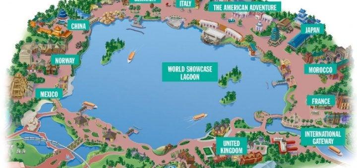 mapa de lago de Disney