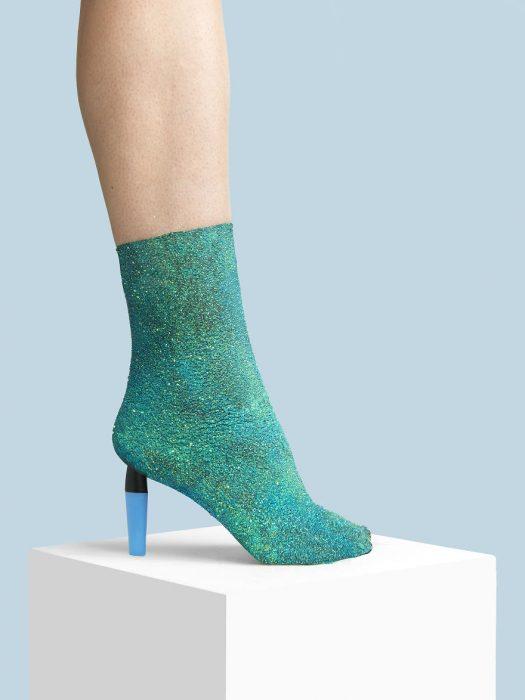 Zapatos creados con glitter