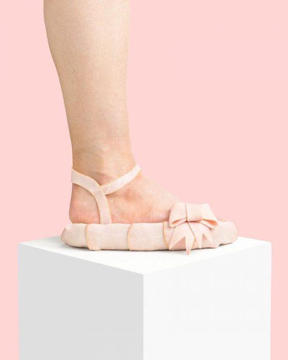 Zapatos creados con jamón