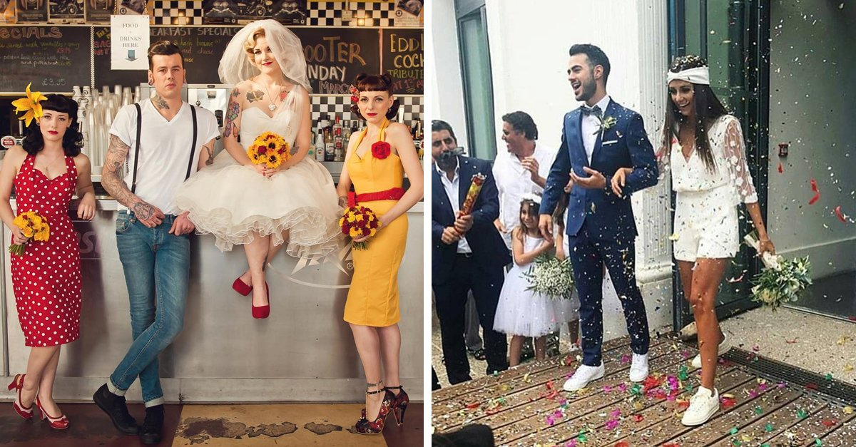 15 recién casados que demostraron que las bodas ya no son tradicionales