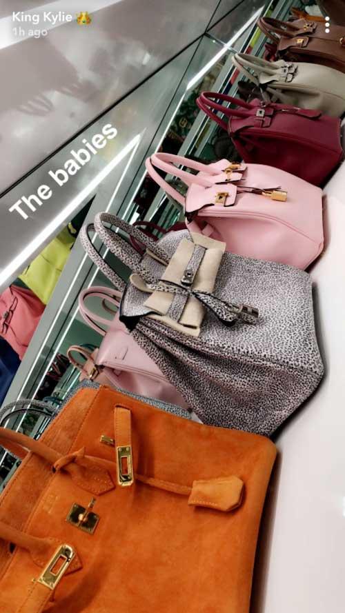 4ae641416 Kylie Jenner mostró su enorme y costosa colección de bolsos